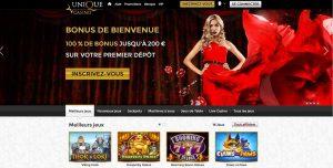 Présentation du casino en ligne Unique Casino